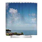 Mediterranean Landscape Shower Curtain