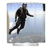 Member Of The U.s. Army Golden Knights Shower Curtain