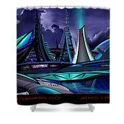 Meraparis City Shower Curtain