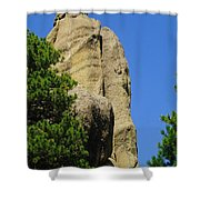 Mica Rock In The Black Hills Shower Curtain