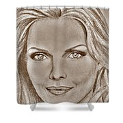 Michelle Pfeiffer In 2010 Shower Curtain by J McCombie