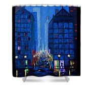 Midnight Drizzle Shower Curtain