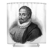 Miguel De Cervantes, Spanish Author Shower Curtain