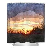 Mild Morning II Shower Curtain