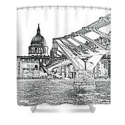 Millenium Bridge And St Pauls Shower Curtain
