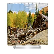 Mining Ruins Shower Curtain
