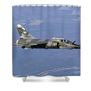 Mirage F1cr Of The French Air Force Shower Curtain