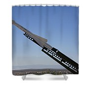 Missile On Display At Alamogordo Space Shower Curtain
