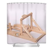 Model Catapult Shower Curtain