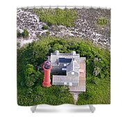 Monomoy Light At Monomoy Wildlife Refuge In Chatham On Cape Cod Shower Curtain