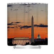 Monuments At Sunrise Shower Curtain