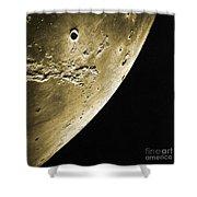 Moon, Apollo 16 Mission Shower Curtain