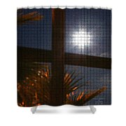 Moon Rising Two Shower Curtain