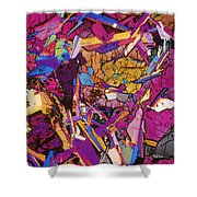 Moon Rock, Transmitted Light Micrograph Shower Curtain