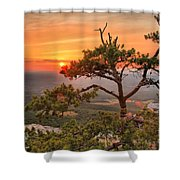 Moore's Knob Sunset Shower Curtain