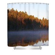 Morning Mist At Haukkajarvi Shower Curtain