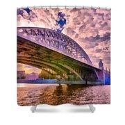 Moscow's Bridges Shower Curtain