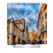 Moscow's Streets Shower Curtain