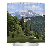 Mountain Landscape In The Alps Shower Curtain