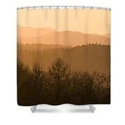 Mountains On Fire Shower Curtain