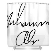 Muhammed Ali (b. 1942) Shower Curtain