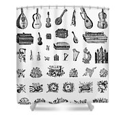Musical Instruments Shower Curtain by Granger
