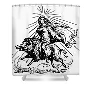 Mythology: Frigg (freyja) Shower Curtain