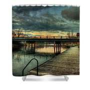 Napanee Harbour  Shower Curtain