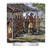 Native American Council, C1835 Shower Curtain