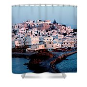 Naxos Island Greece Shower Curtain