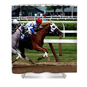 Neck And Neck At Saratoga One Shower Curtain
