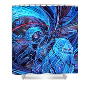 Neon Abstract Fx  Shower Curtain