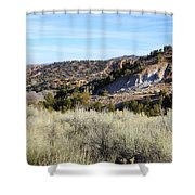 New Mexico Series - A View Of The Land Shower Curtain