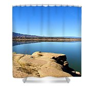 New Mexico Series - Abiquiu Lake Shower Curtain