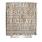 New Orleans Streets Shower Curtain