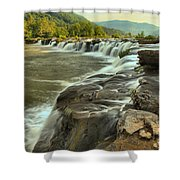 New River Waterfall Shower Curtain