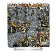 New World: Voyage, 1592 Shower Curtain