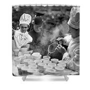 New York: Bread Line, 1915 Shower Curtain