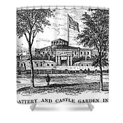 New York: Castle Garden Shower Curtain