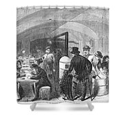 New York: Poverty, 1868 Shower Curtain