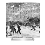 New York: Snowstorm, 1867 Shower Curtain