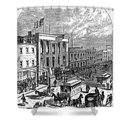 New York: The Bowery, 1871 Shower Curtain