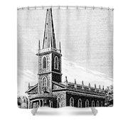 New York: Trinity Church Shower Curtain
