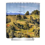 New Zealand Shower Curtain by Les Cunliffe