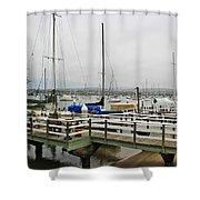 Newport Bay And Balboa Island Shower Curtain