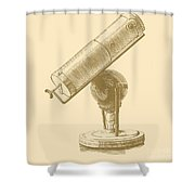 Newtons Little Reflector Shower Curtain