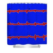 Normal Ecg Shower Curtain
