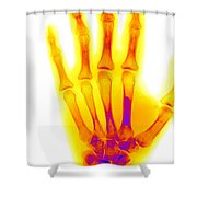 Normal Human Hand Shower Curtain