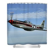 North American P-51 Cavalier Mustang Shower Curtain