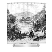 North Carolina, C1875 Shower Curtain